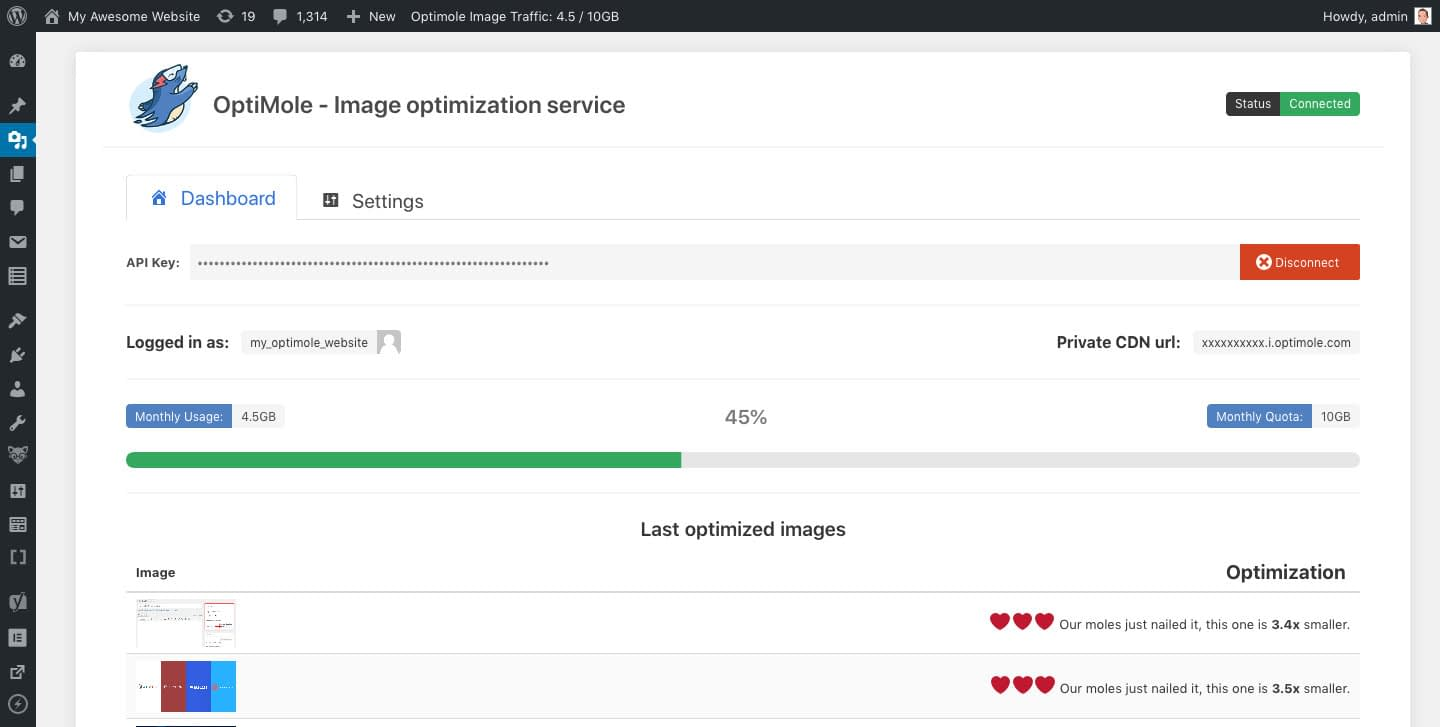 Real-time Image Processing and Image CDN for WordPress - OptiMole